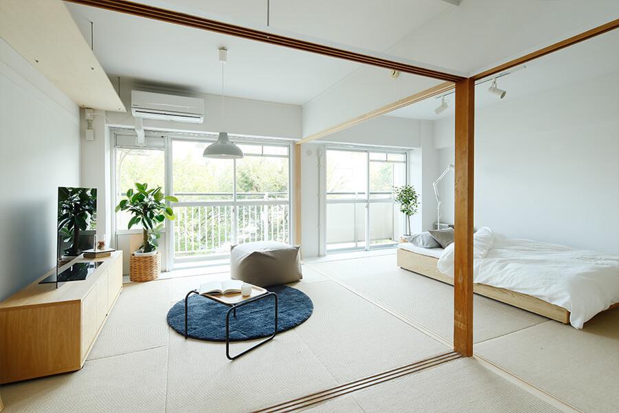 無印 木の家 和室 モダン 畳