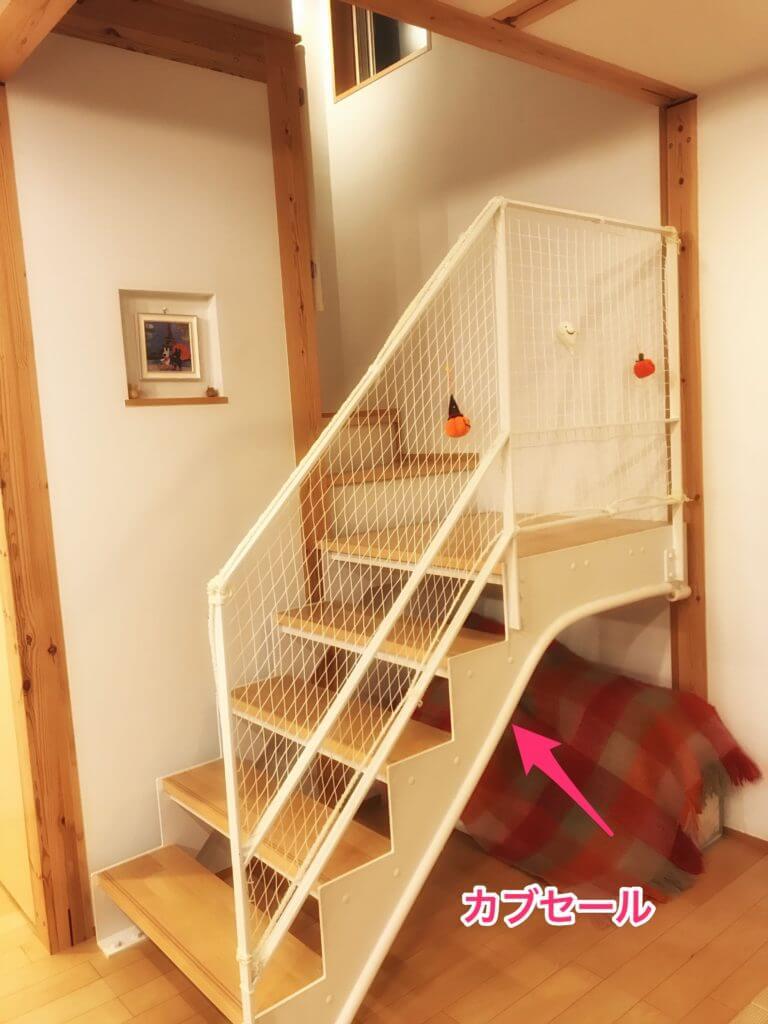 無印 木の家 階段 スケルトン リビング らせん階段 カブセール