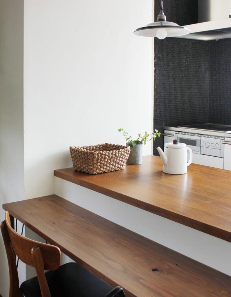 無印 木の家 キッチン カウンター サンプル