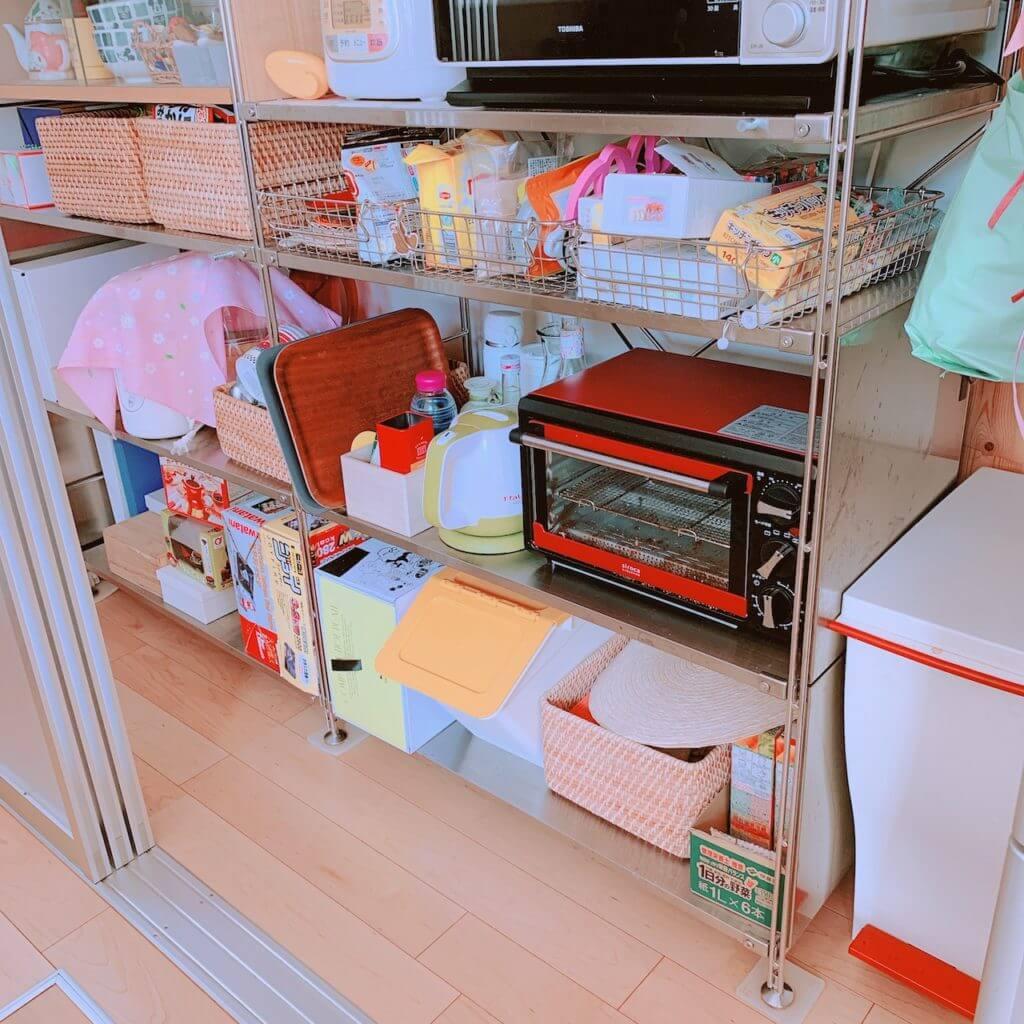 無印良品のユニットシェルフを使ったキッチン