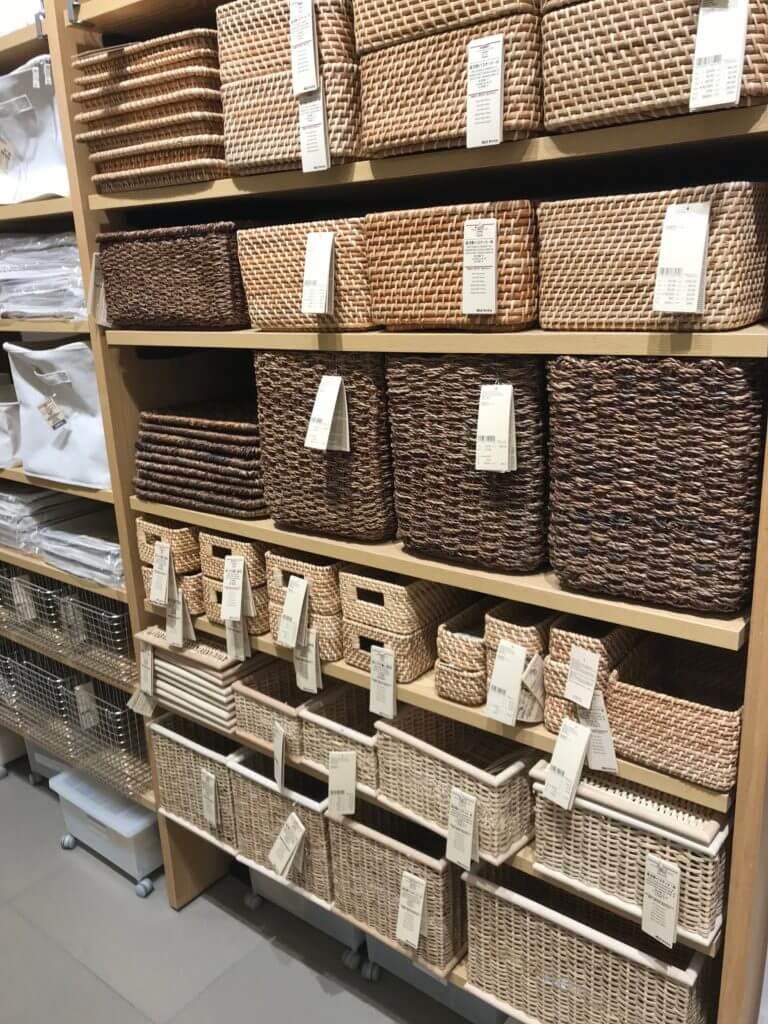 無印 木の家 ユニットシェルフ 棚 カゴ 籠 収納 種類