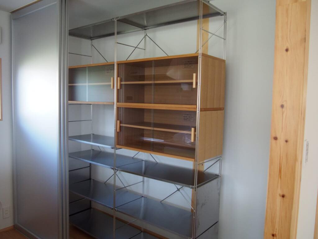 無印 木の家 ユニットシェルフ 棚 シルバー 完成 かわいい
