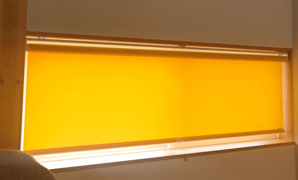 無印 木の家 ロールスクリーン カラー オレンジ