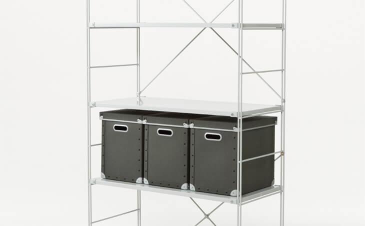 無印 木の家 ユニットシェルフ 棚 カゴ 籠 収納 ボックス