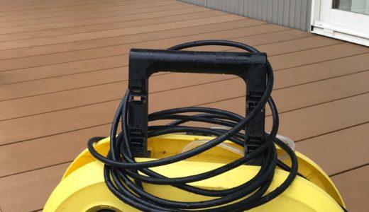 ウッドデッキの掃除は高圧洗浄機ケルヒャーを使えば3秒で終わる