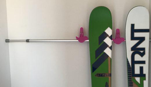 超簡単!500円で作れる、スキー・スノボ板の簡易ラック