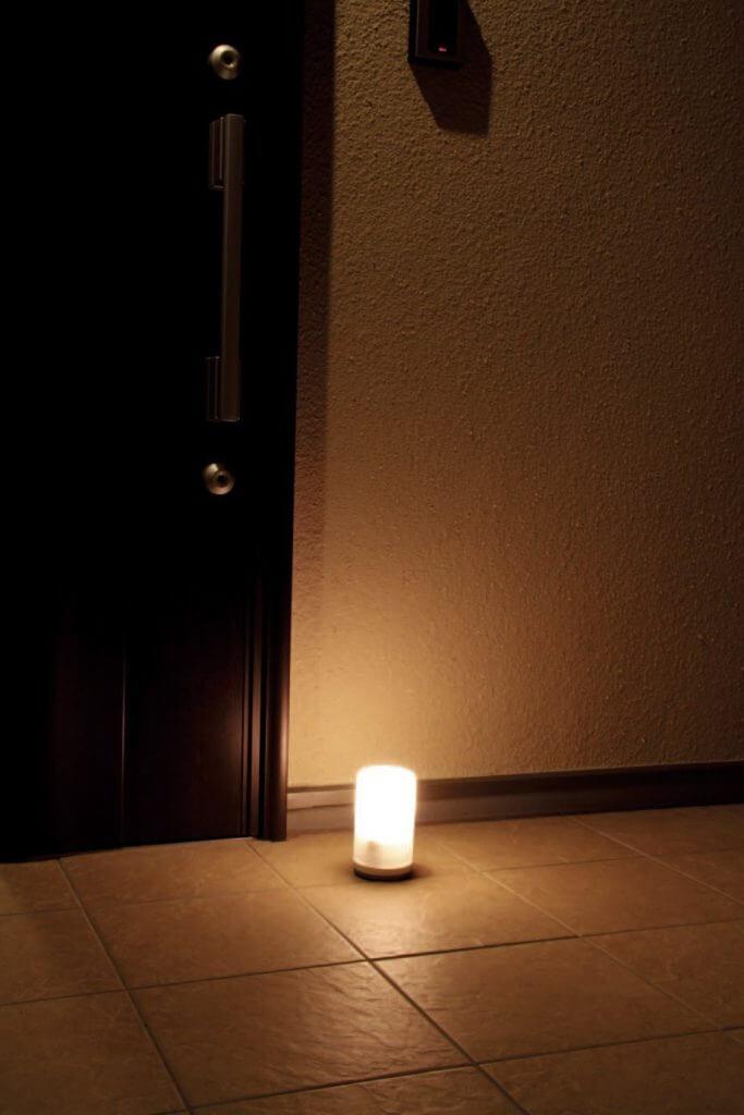 無印 木の家 玄関 LED 人感センサーライト 据え置き