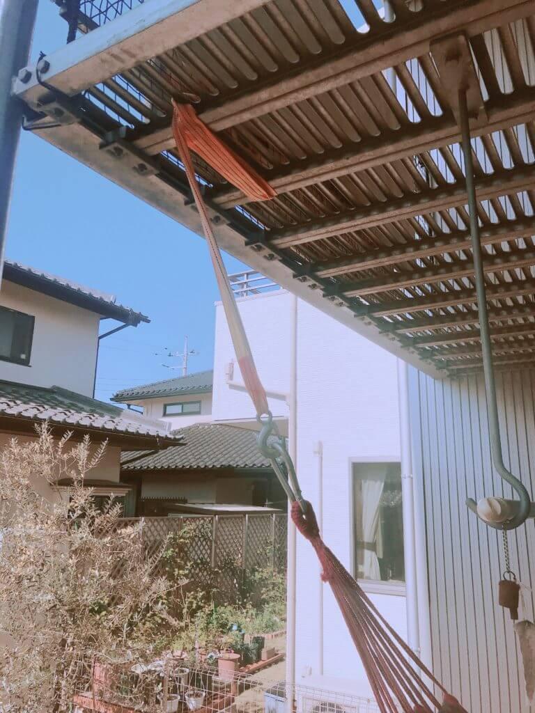 無印 木の家 ハンモック バルコニー ベランダ ウッドデッキ アタッチメント
