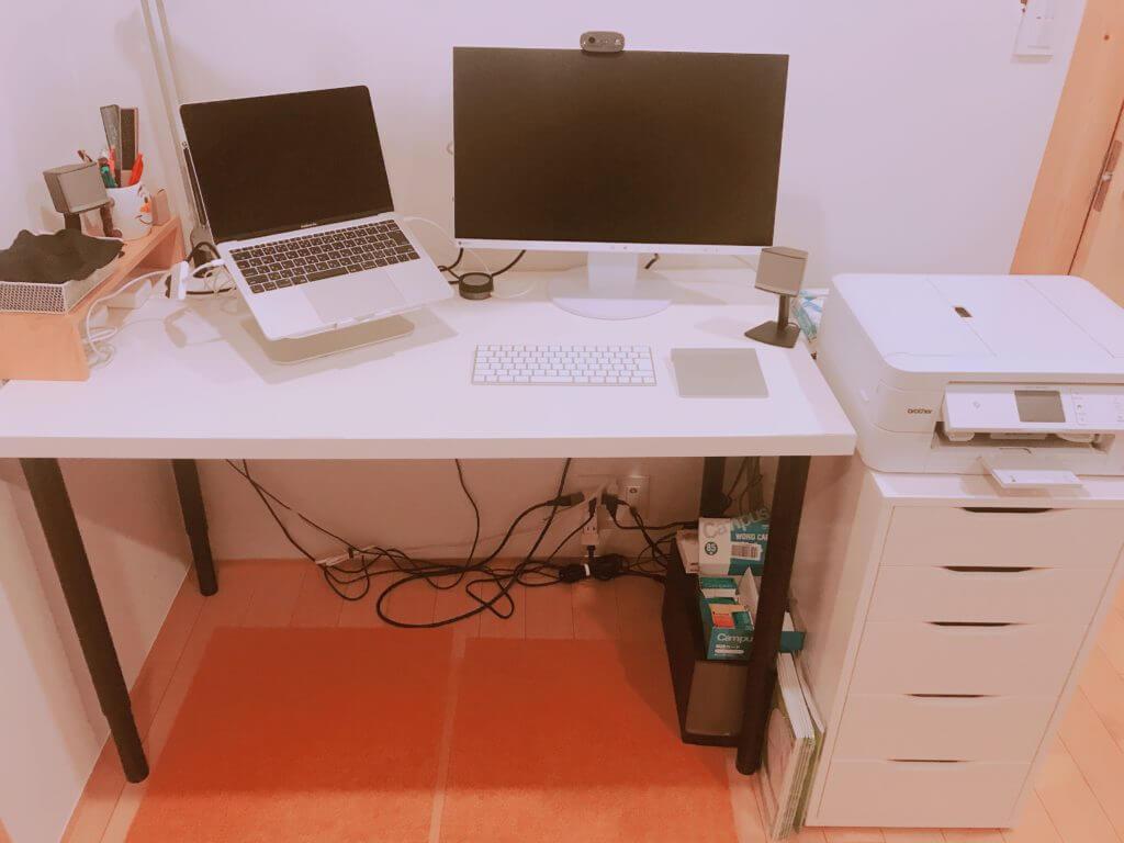 無印 木の家 部屋 デスク(机) IKEA(イケア)