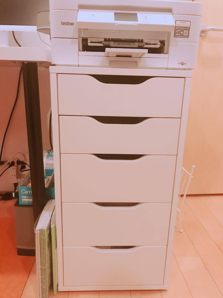 無印 木の家 部屋 デスク(机) IKEA(イケア) 袖机