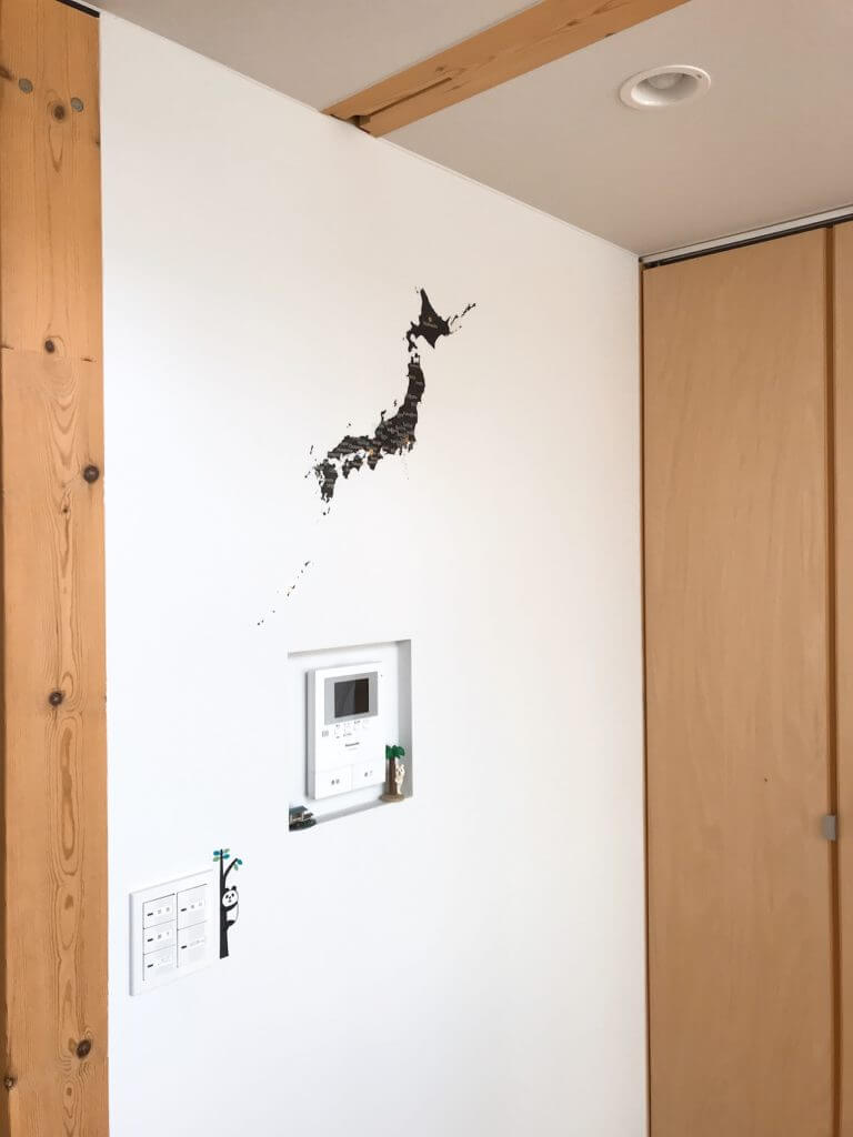日本地図のステッカー