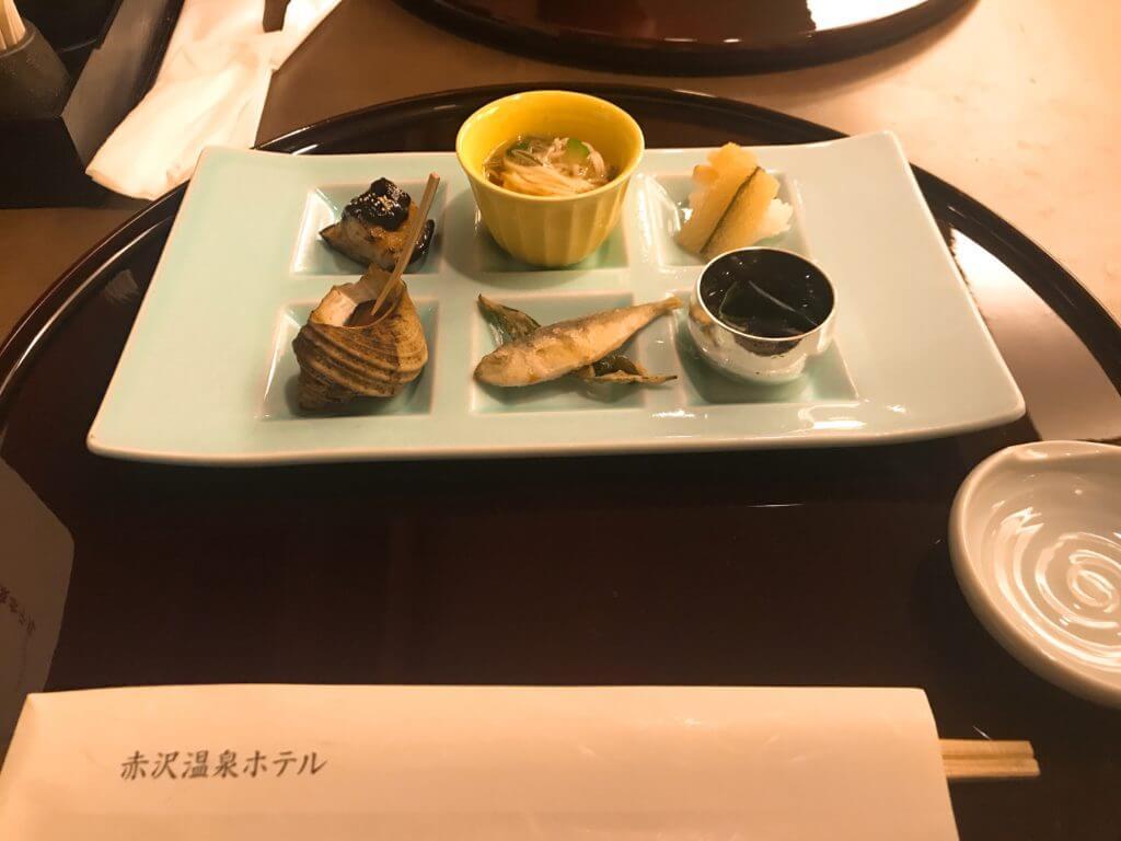 赤沢温泉ホテルの夕食:前菜