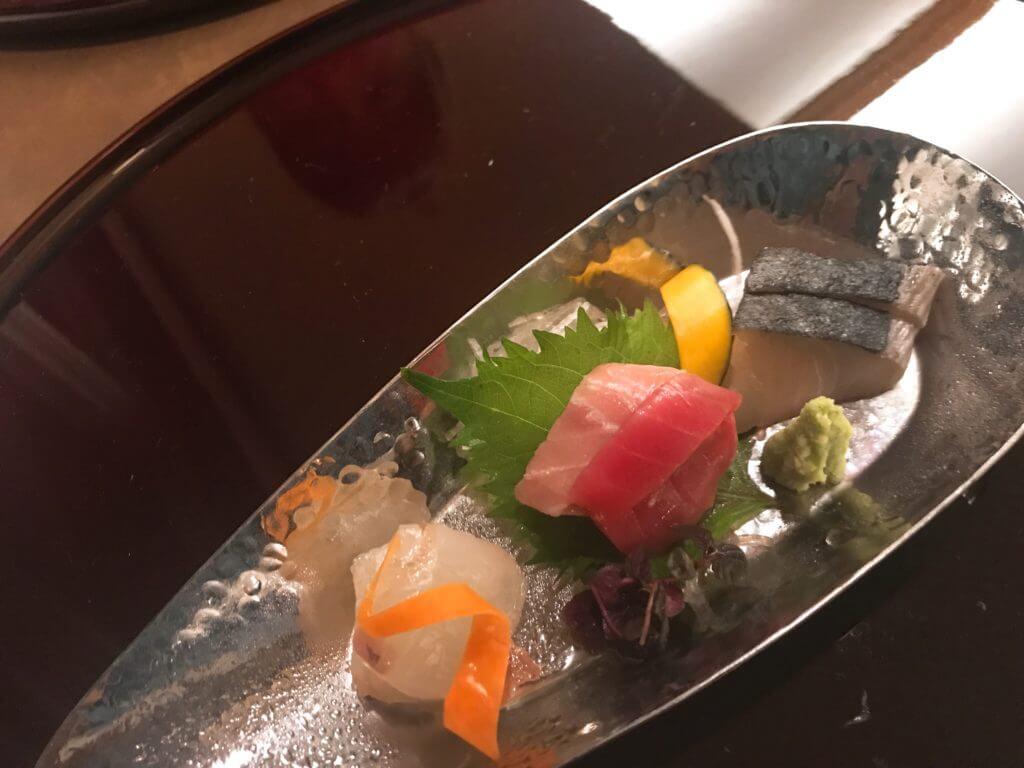 赤沢温泉ホテルの夕食:お刺身