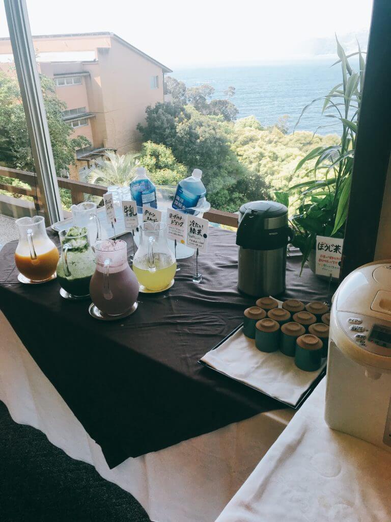 赤沢温泉ホテルの朝食:ドリンク