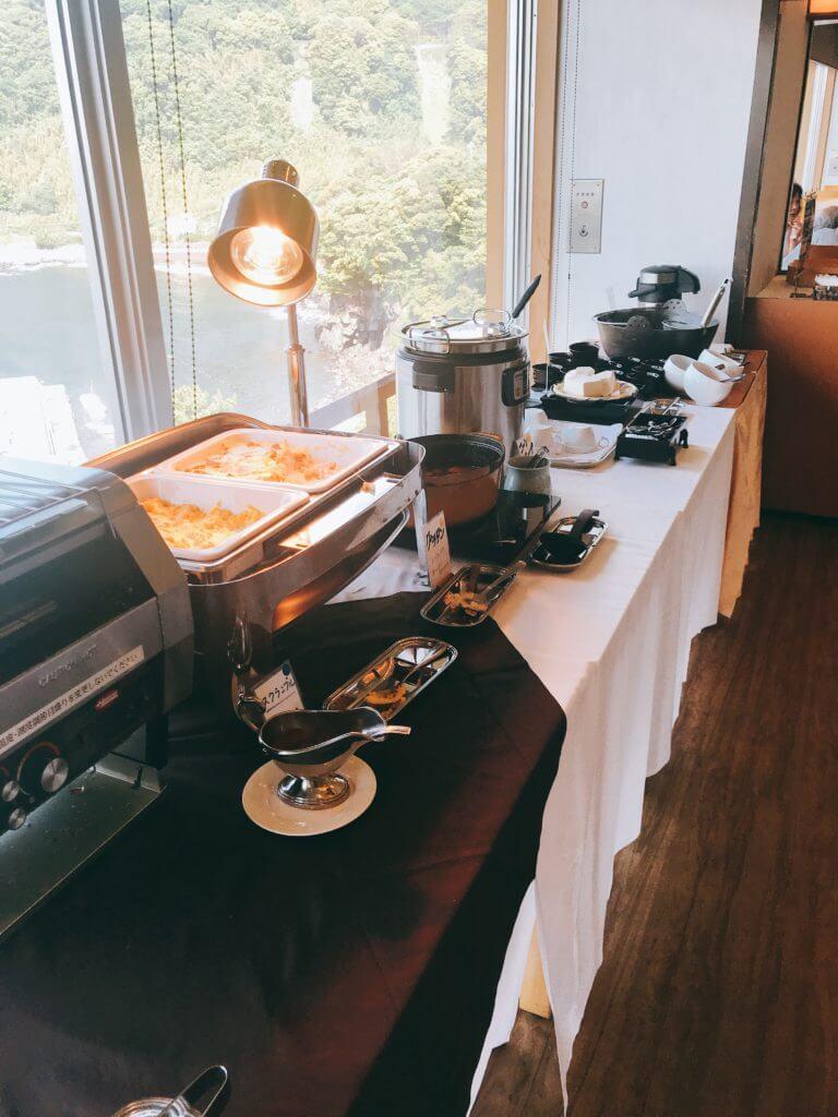 赤沢温泉ホテルの朝食:洋食、うどんなど