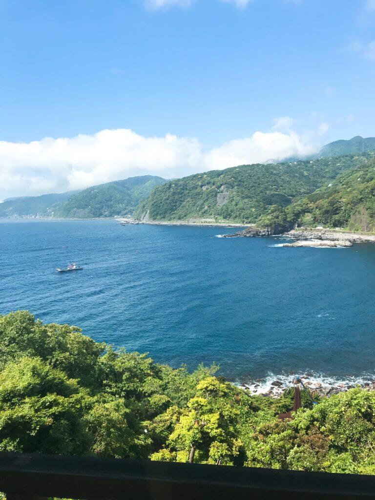 赤沢温泉ホテルの部屋からの景色