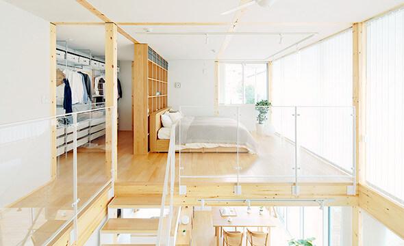 無印の木の家の部屋