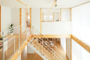 無印の木の家の階段の手すり