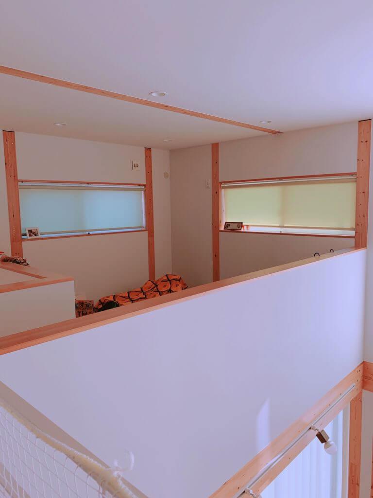 無印良品の木の家の2階の部屋