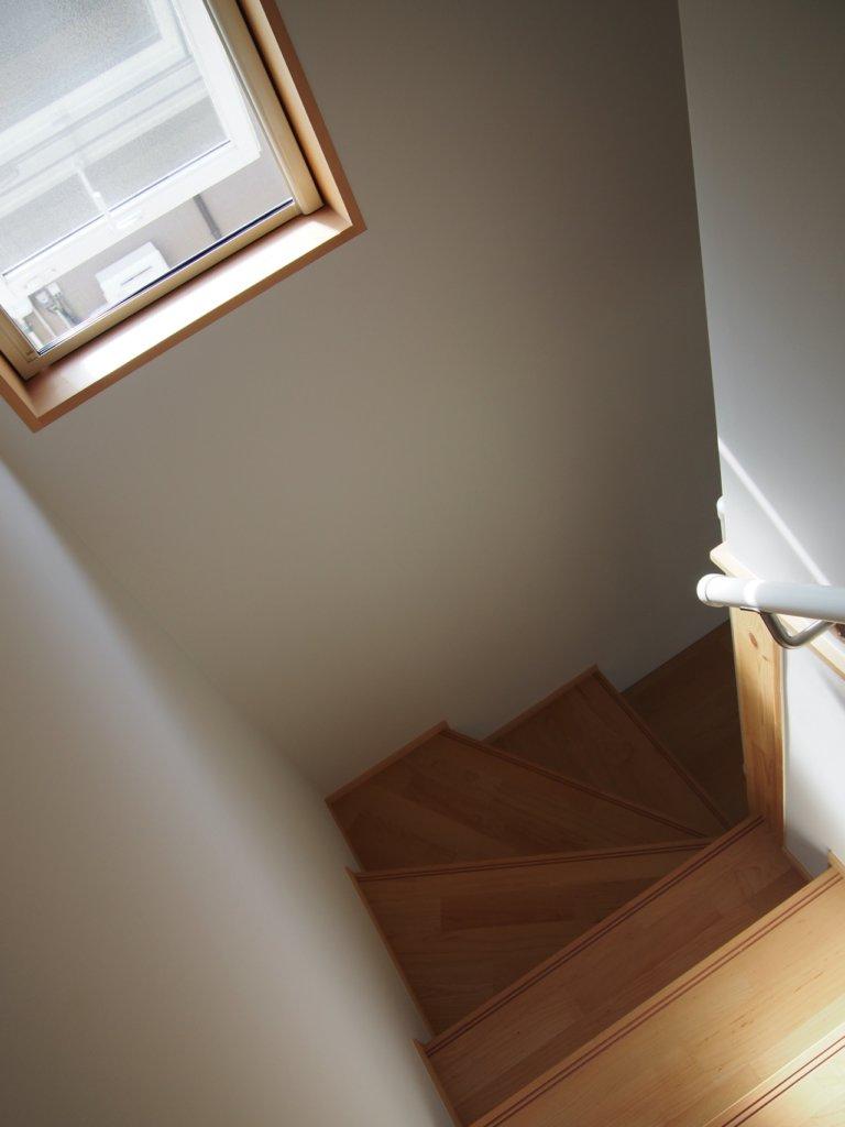 無印良品の木の家の階段