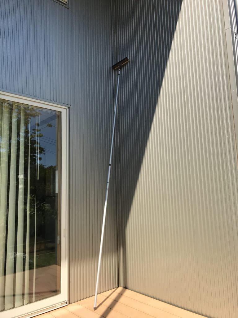 アズマ ガラスワイパー ジャンボ4.6mで窓掃除