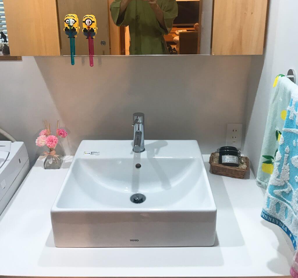 無印良品の家の洗面台