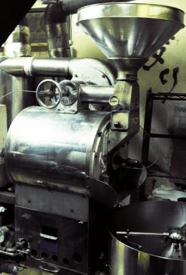 木馬の焙煎機