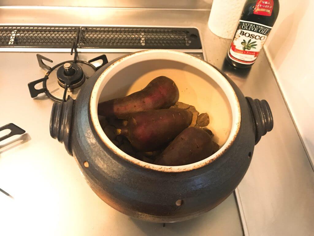 いも太郎で10分加熱した焼き芋