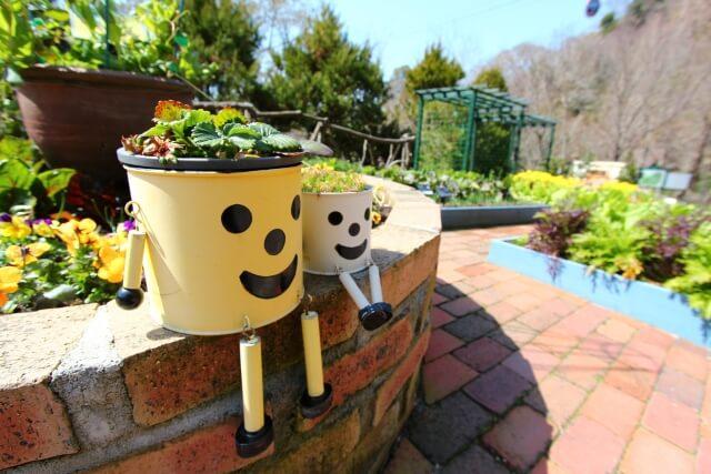 おしゃれな家庭菜園の花壇