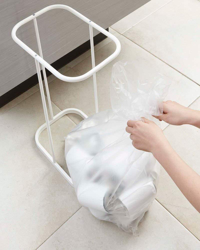 山崎実業 ゴミ箱 分別ゴミ袋ホルダー は捨てやすい