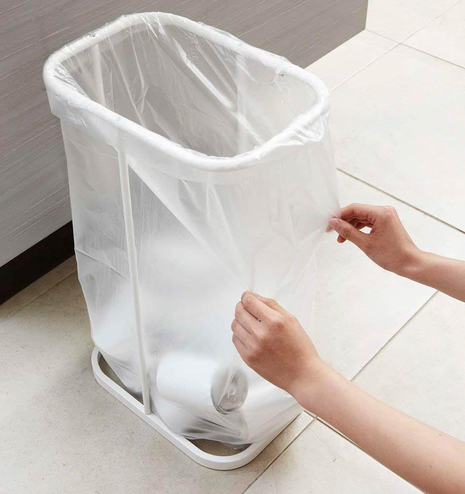 山崎実業 ゴミ箱 分別ゴミ袋ホルダー