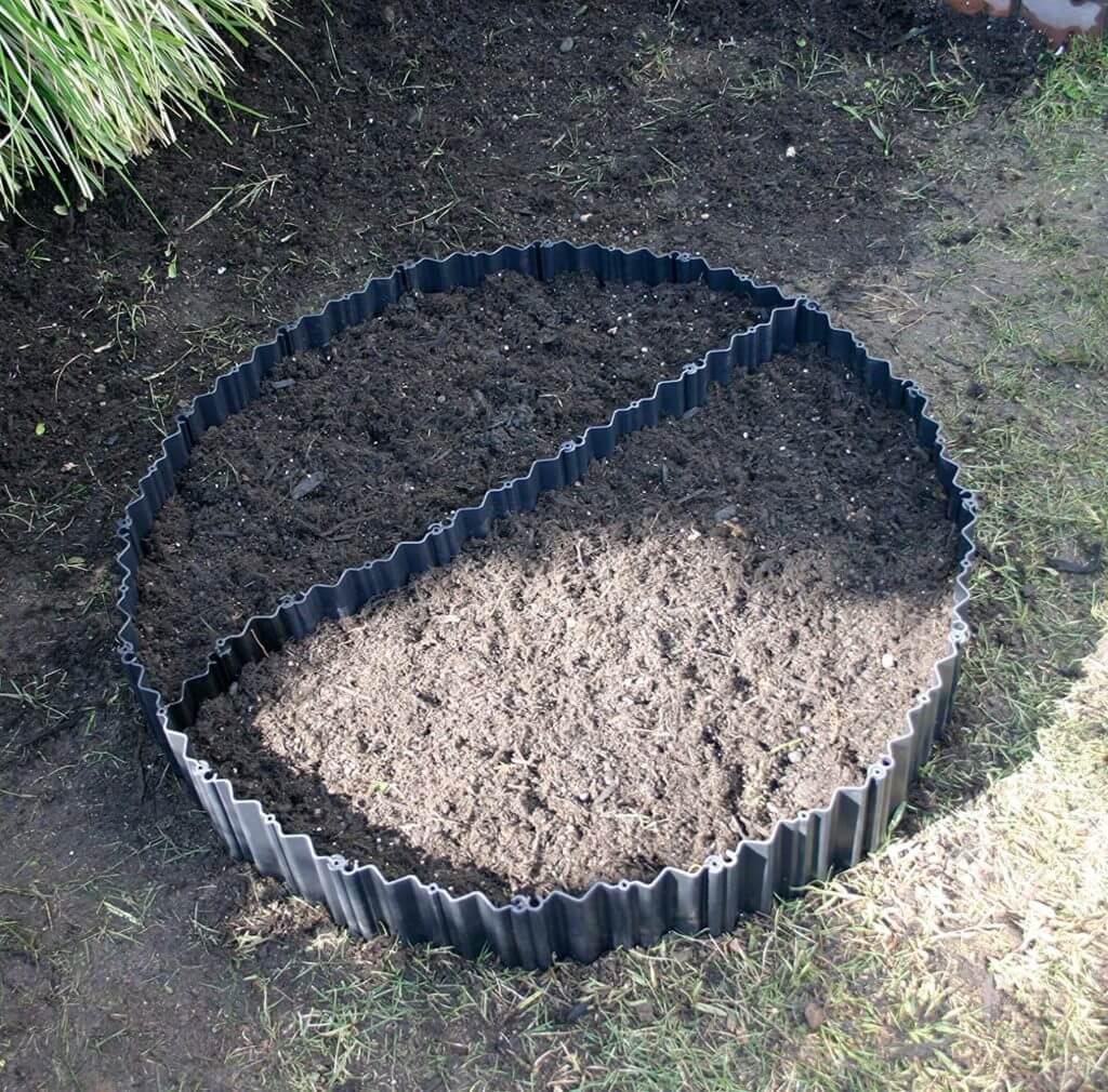 家庭菜園には土ストッパー