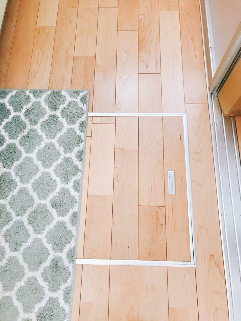 無印良品の木の家の床下収納