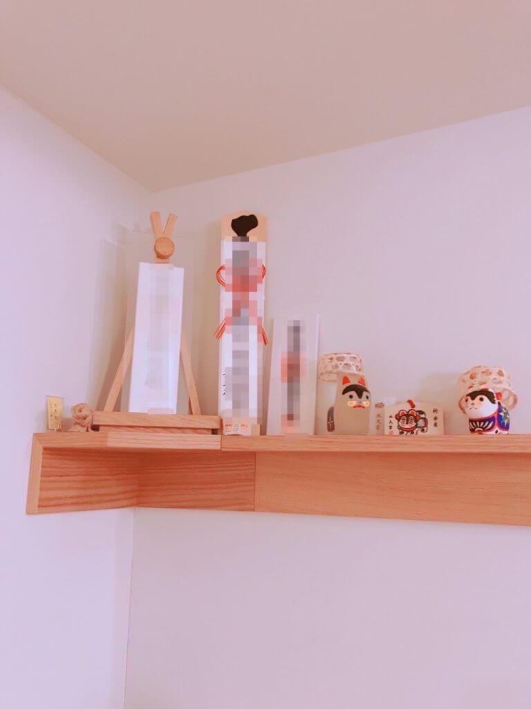 無印良品の棚で作った、モダンな神棚の完成形