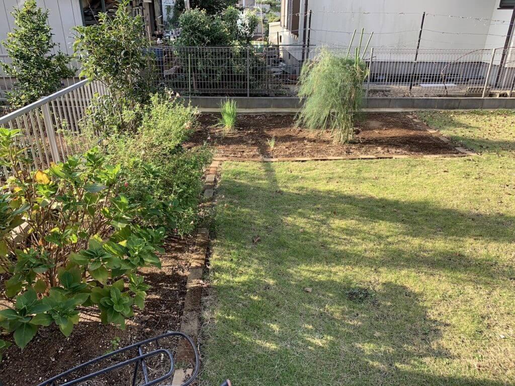 庭の家庭菜園スペース