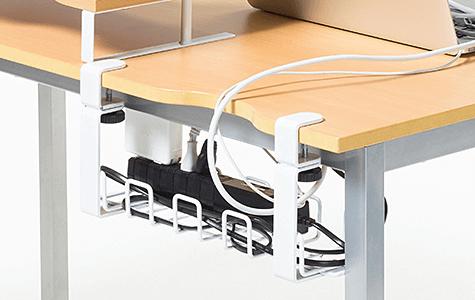 パソコンデスクの汚いケーブル配線をスッキリ整理・収納する方法
