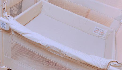 人気のアップリカのベビーベッド ココネルを購入。組立と収納が楽!