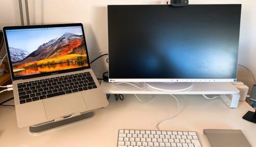 キーボードが収納できる最強パソコンモニター台。USBと電源タップ搭載