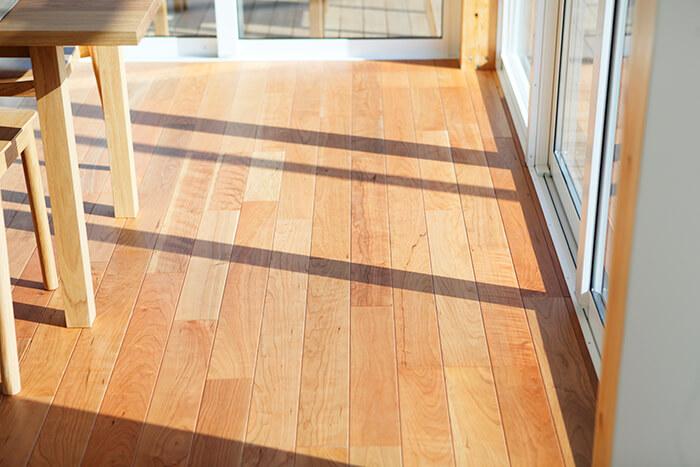 無印良品の木の家の床2
