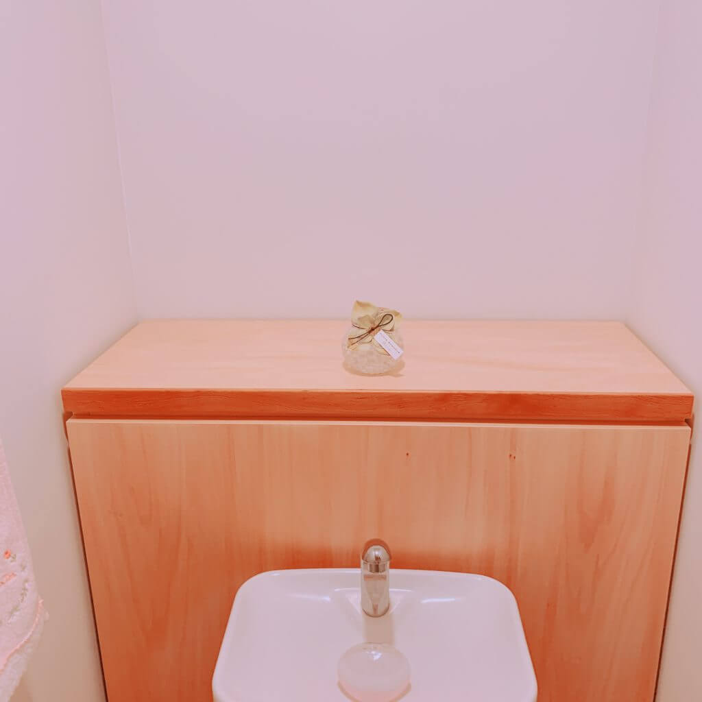 無印良品の木の家のトイレの収納