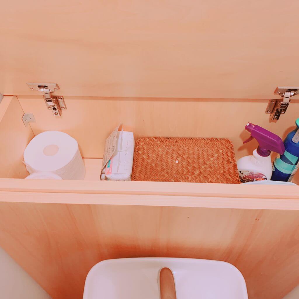 無印良品の木の家のトイレの収納の中身