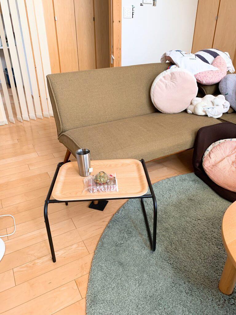 無印良品のソファーのサイドテーブル
