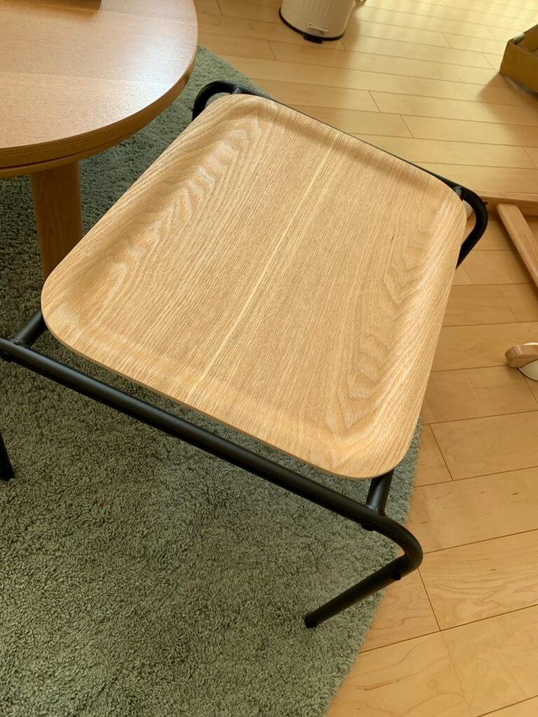 無印良品のサイドテーブルの完成
