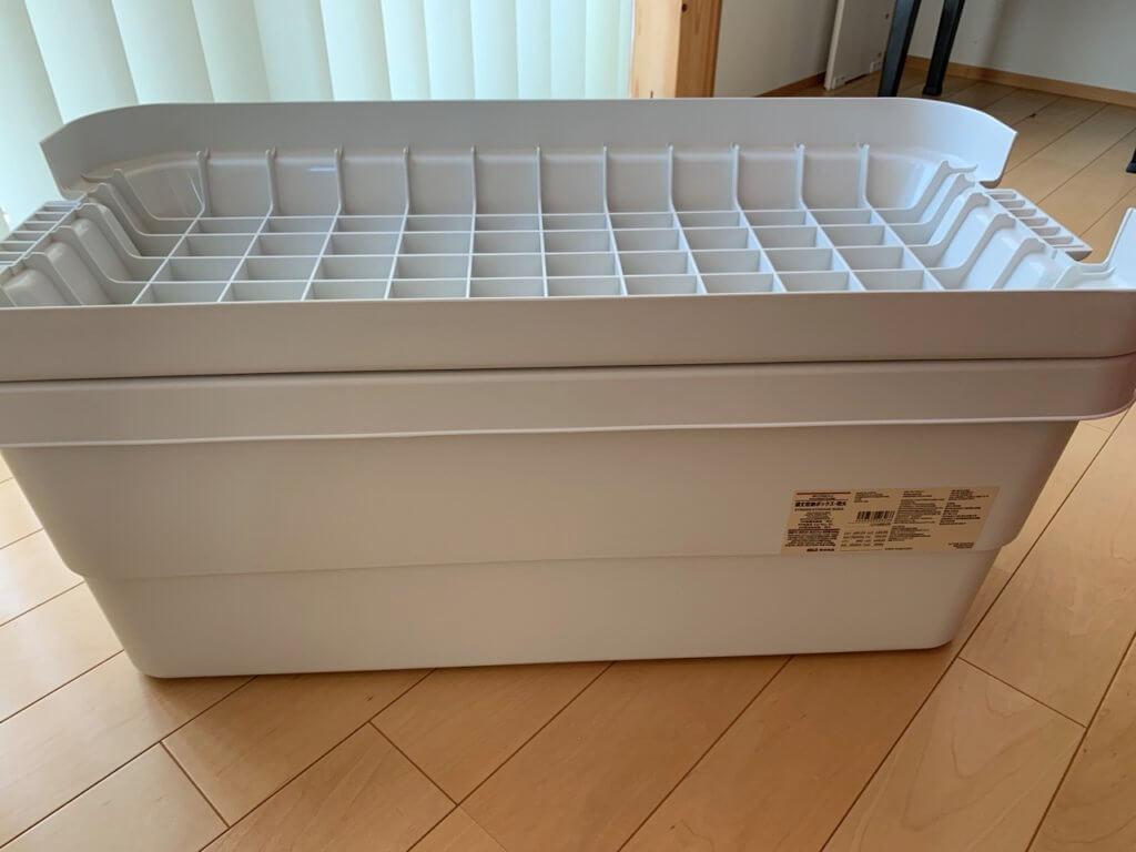無印良品の頑丈収納ボックスのフタは使える
