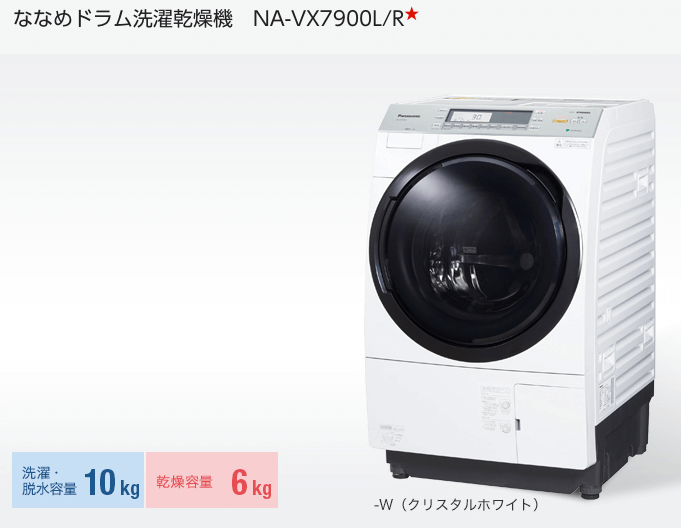 購入したドラム式洗濯機、パナソニックドラム洗濯乾燥機 NA-VX7900