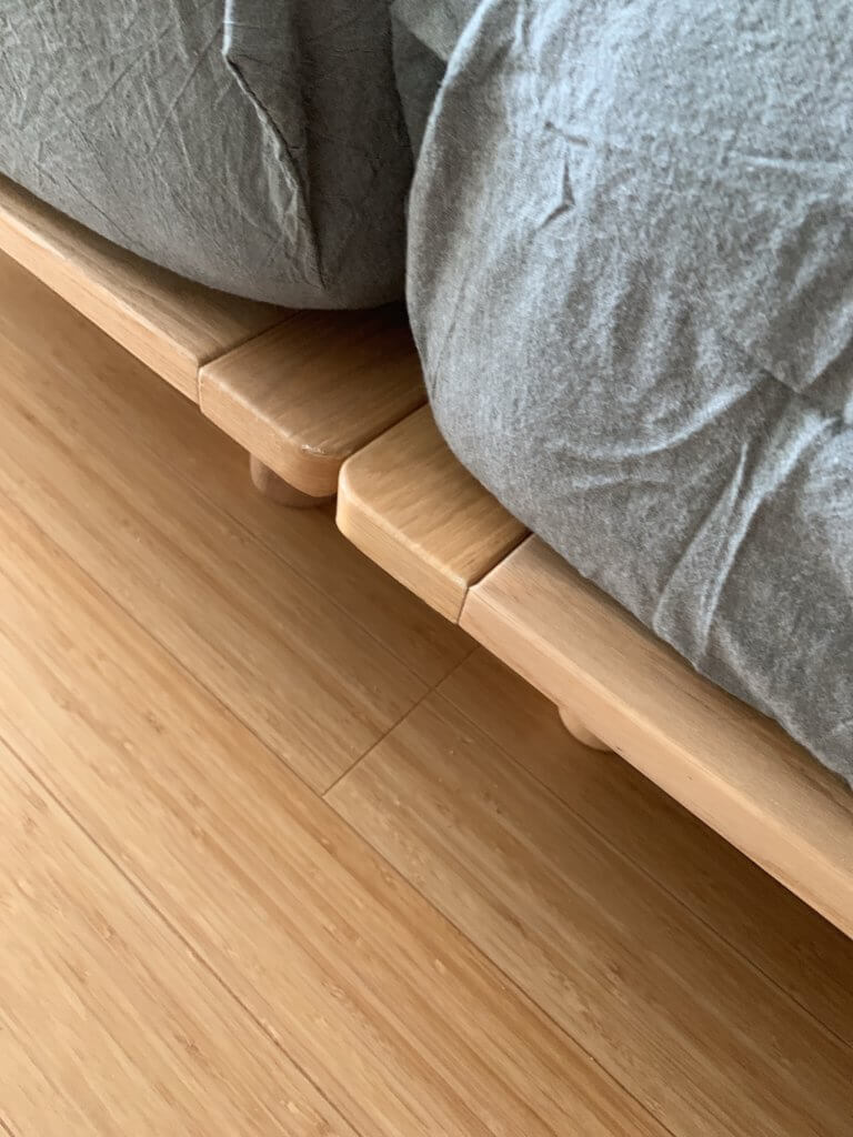 無印良品のベッドを2台連絡した際の隙間