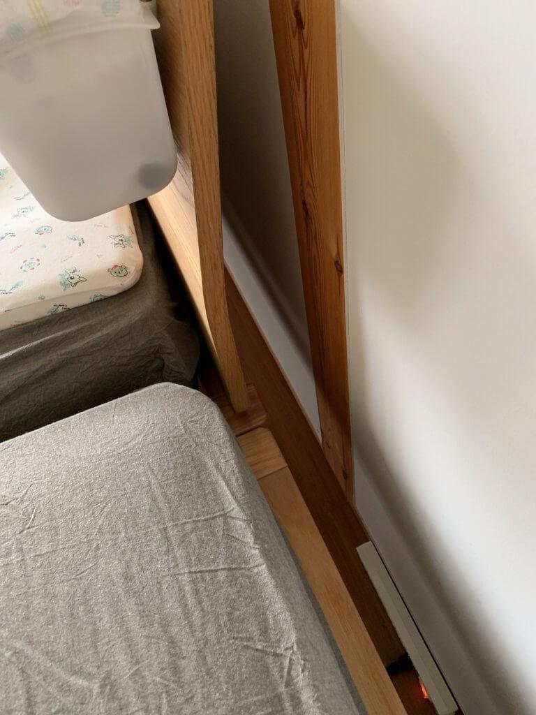 無印良品のベッドを連結した際のベッドの隙間