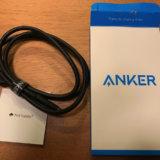 ankerのUSB-Type-Cケーブルの外箱と本体