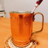 copper-mug-和田助の銅マグカップでカフェラテを飲んだ