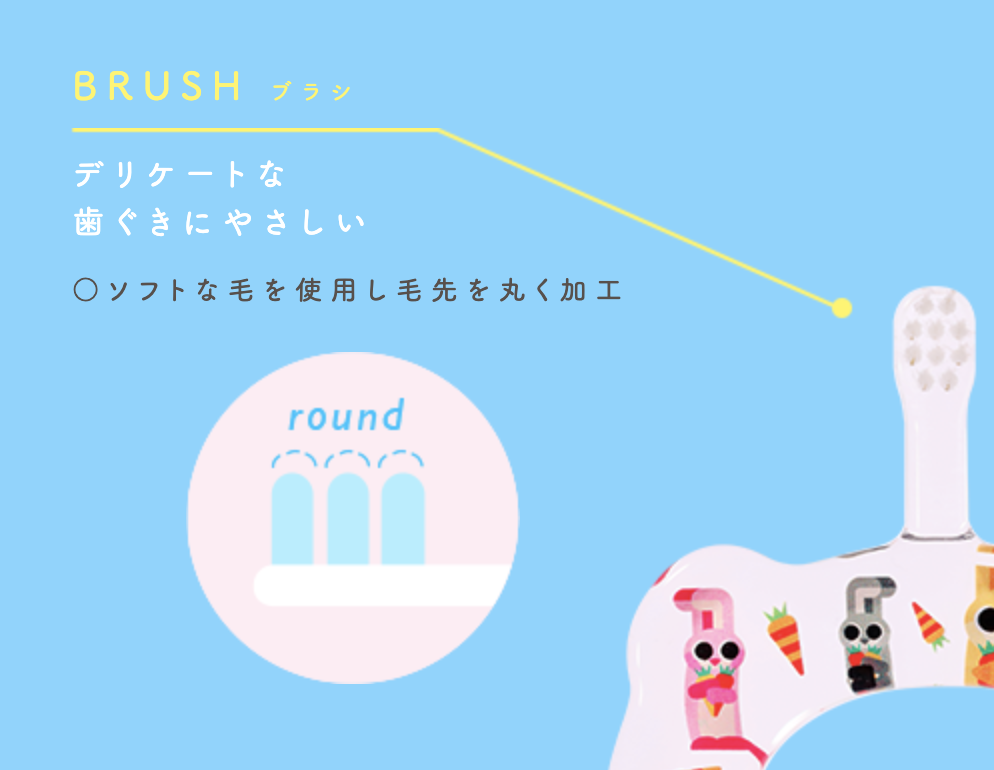 HAMOCOの歯ブラシの特長1